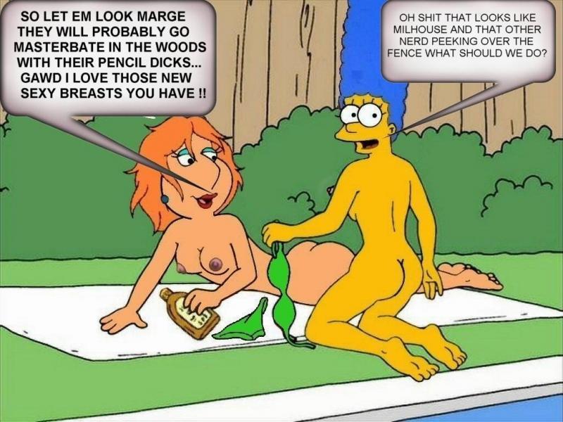 Marge simpson y lois griffin lesbianas