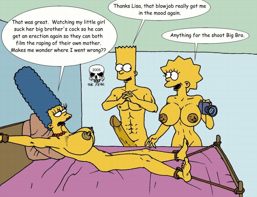 Simpsons cartoon bondage phrase