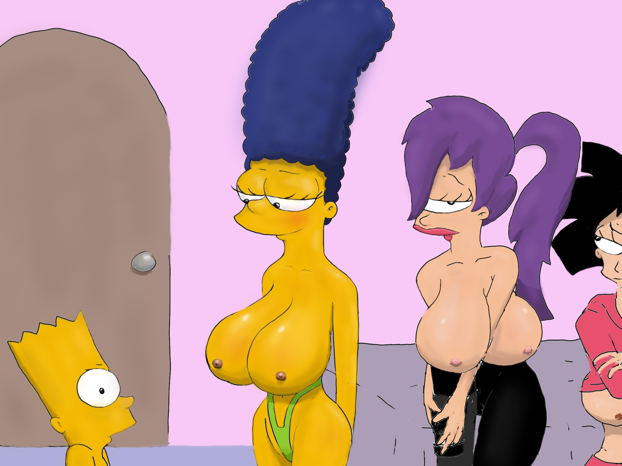marge and leela naked denunciation description
