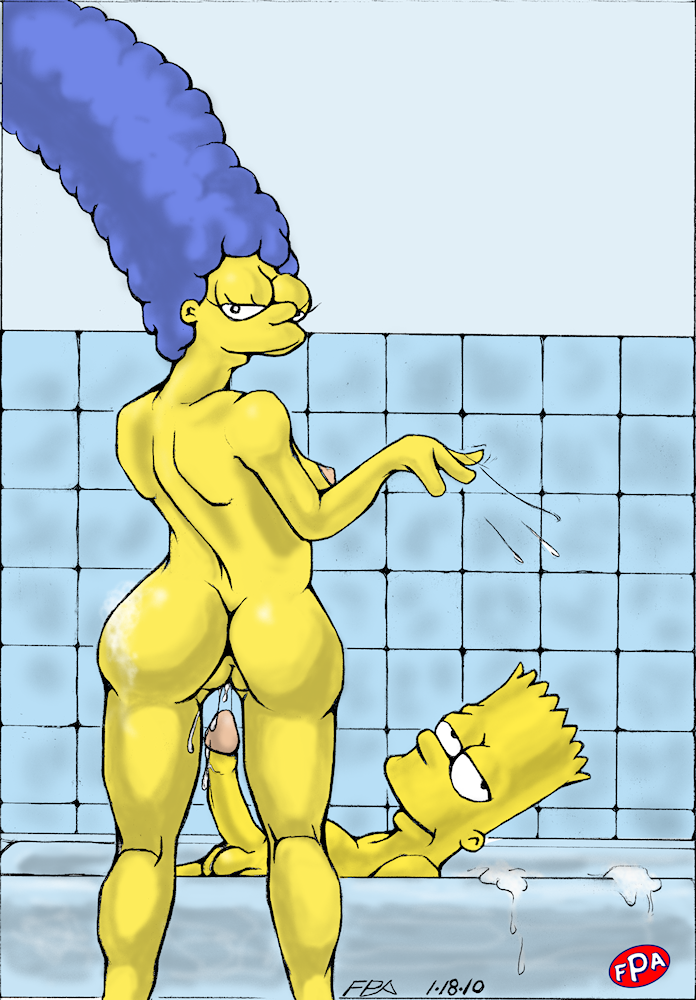 Marge simpson and bart having sex amusing