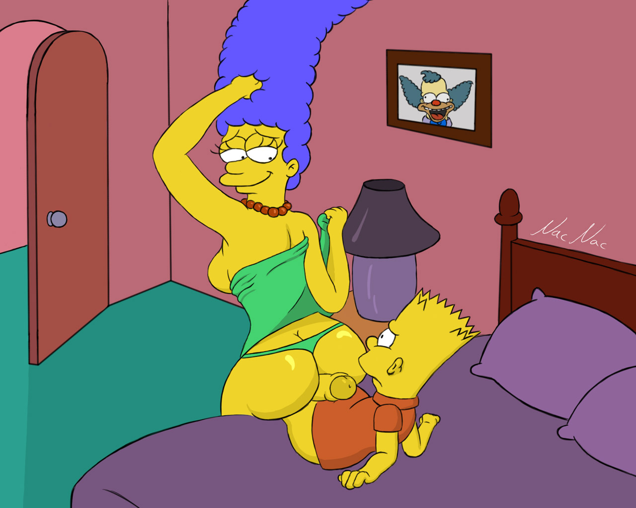 marge simpsons nude anus