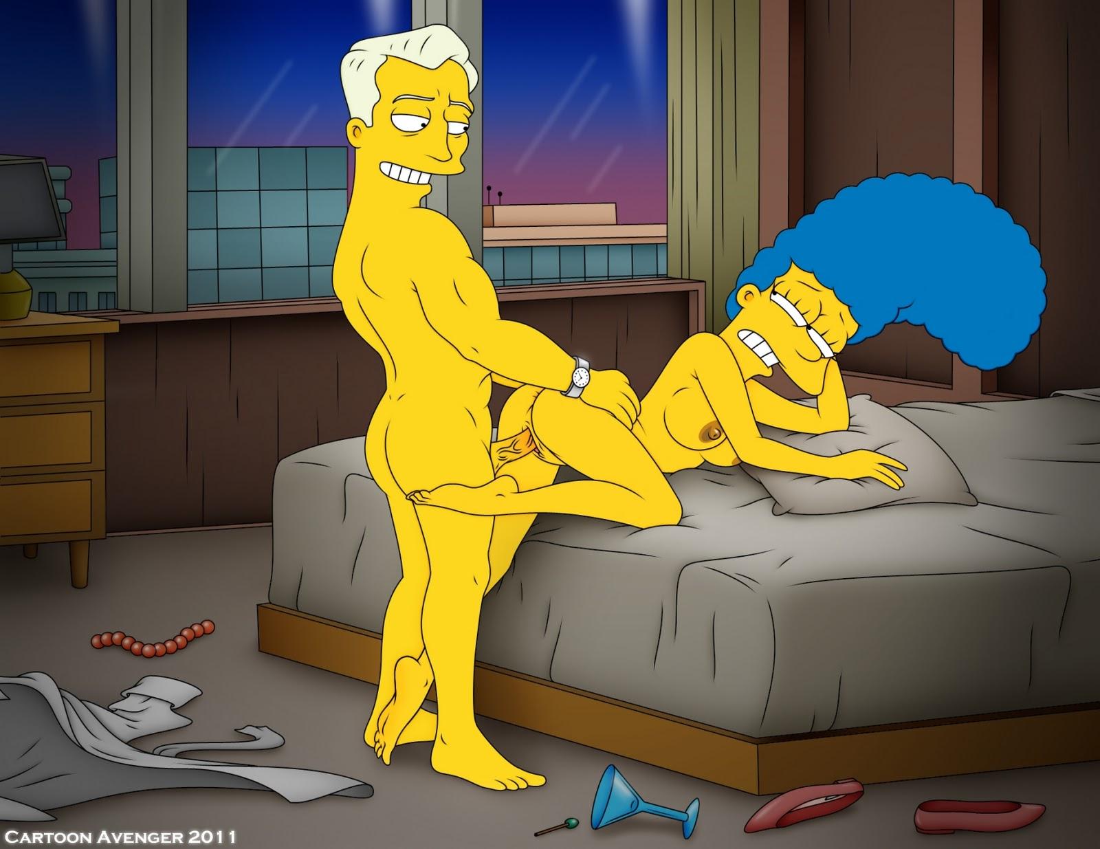 Порно с волосатой пиздой мардж симпсон
