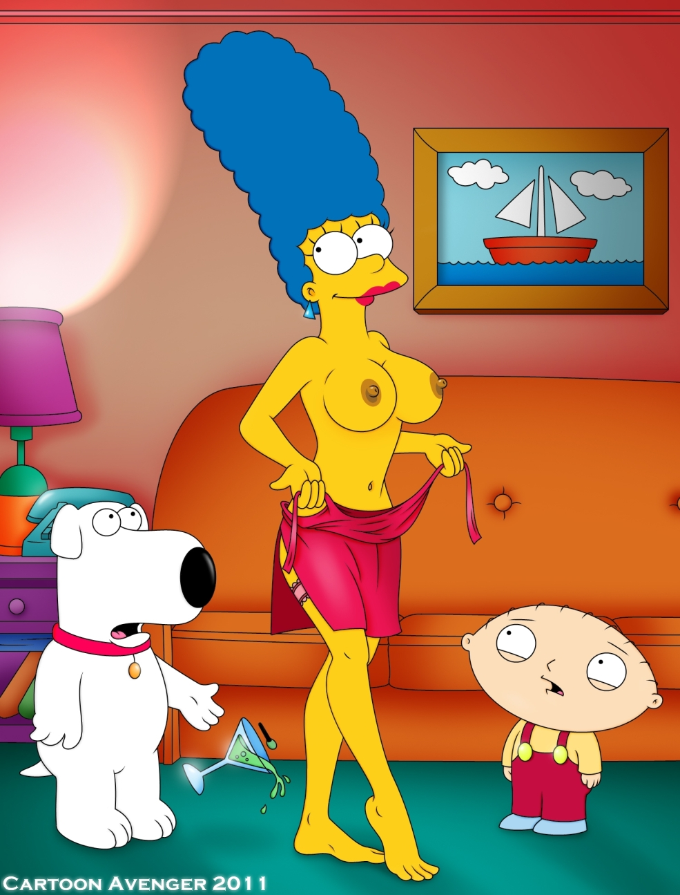 Situation familiar Naked pics of louis griffin fucking marge simpson