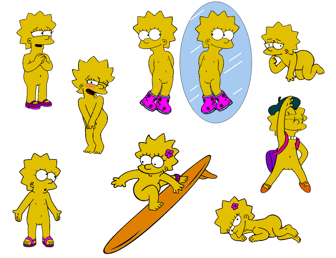 bart naked simpson lisa