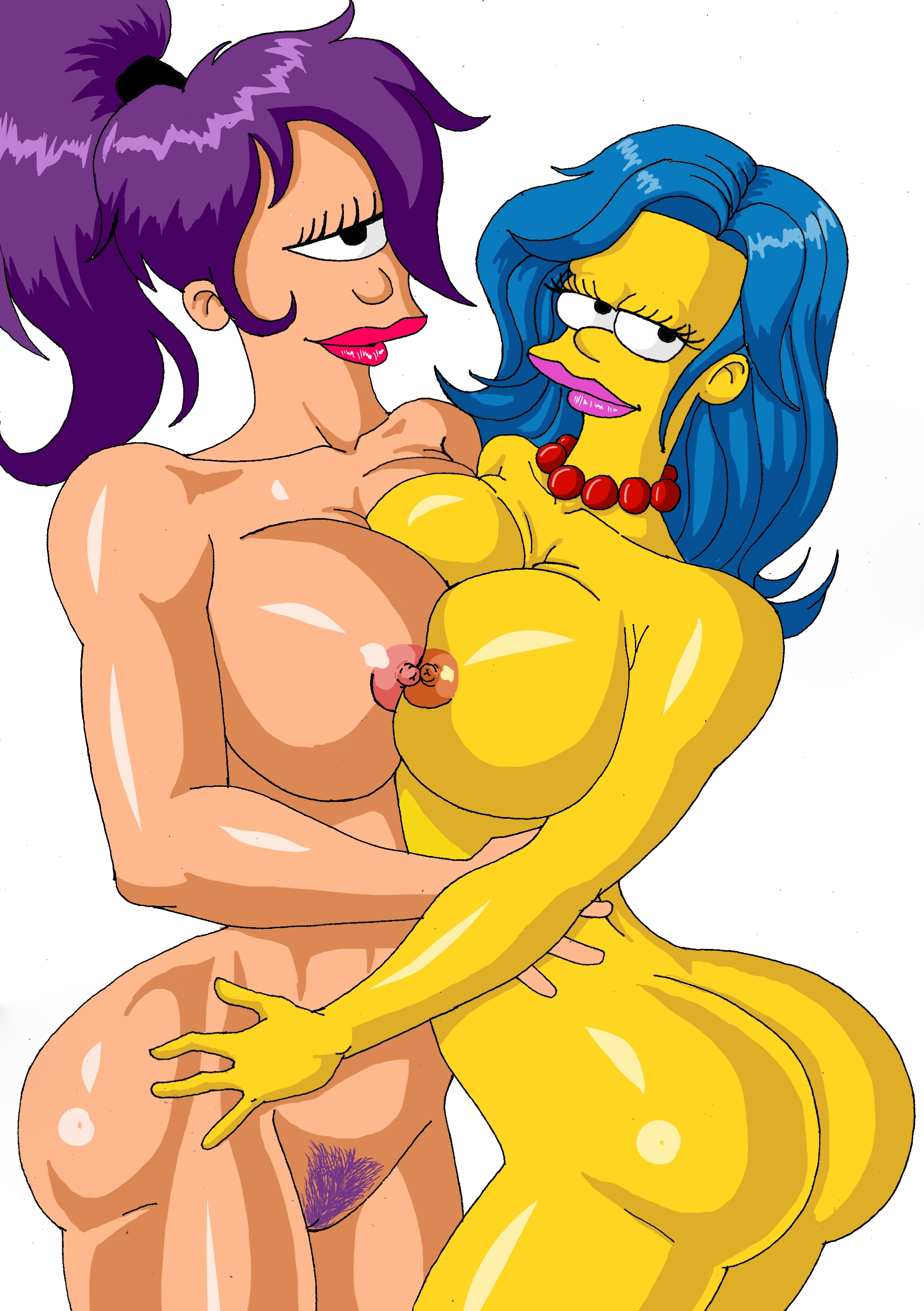 marge and leela naked away sentence