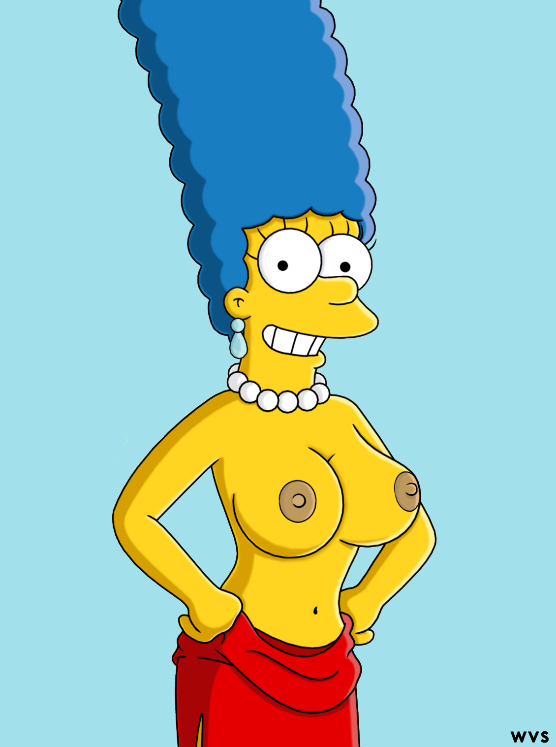 marge simpson sexy naked tits