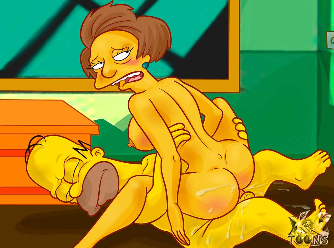 With you Edna krabappel xxx knows it