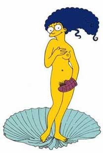 Marge simpson nackte Simpsons Marge