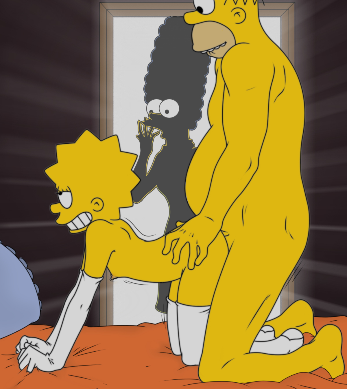 Naked The sex hard simpsons having
