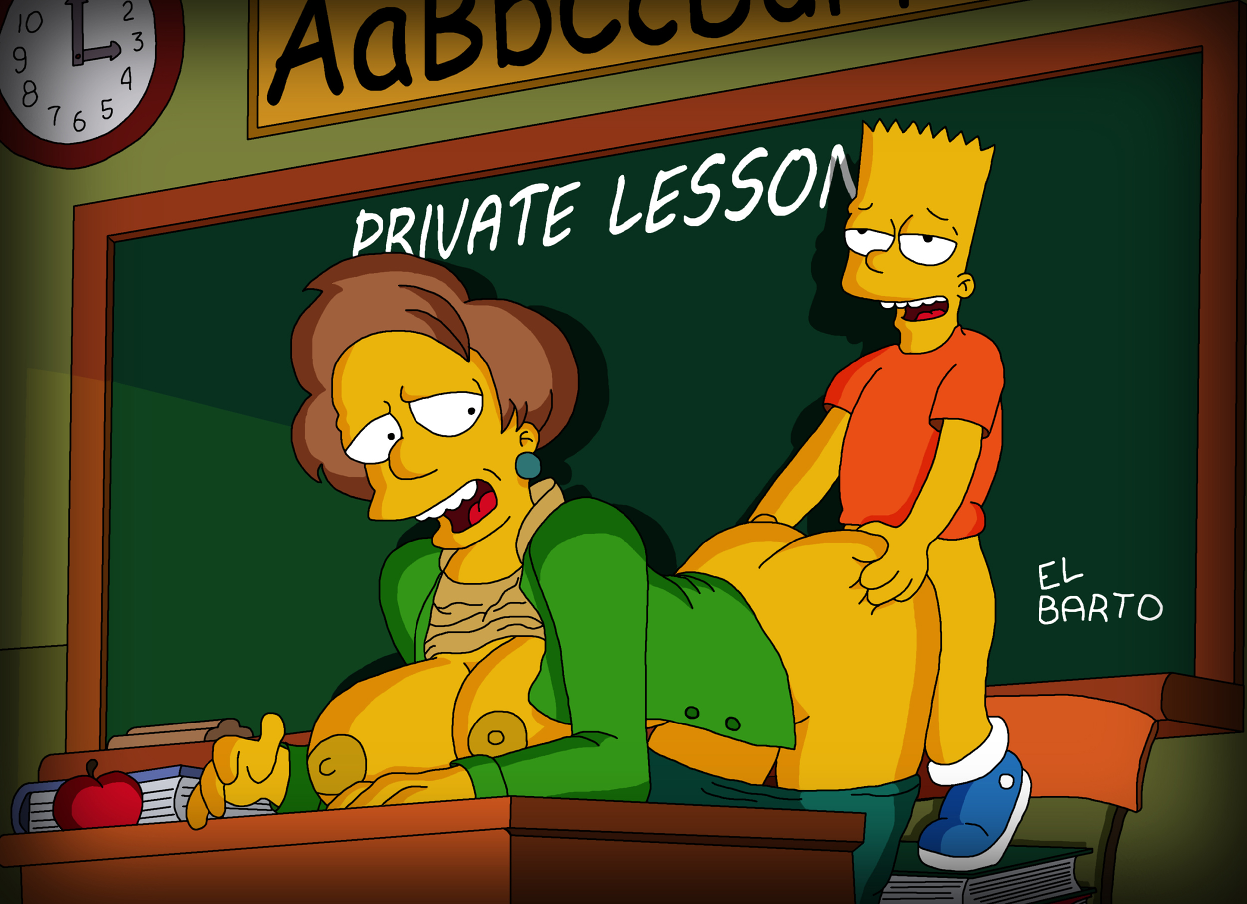 bart simpson and teacher porn