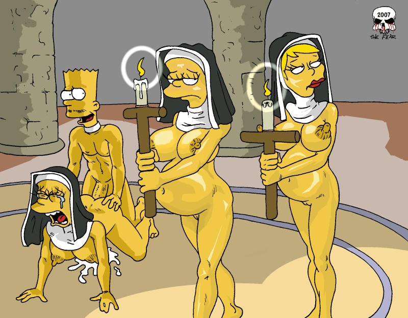 marge simpson is naked and pregnant