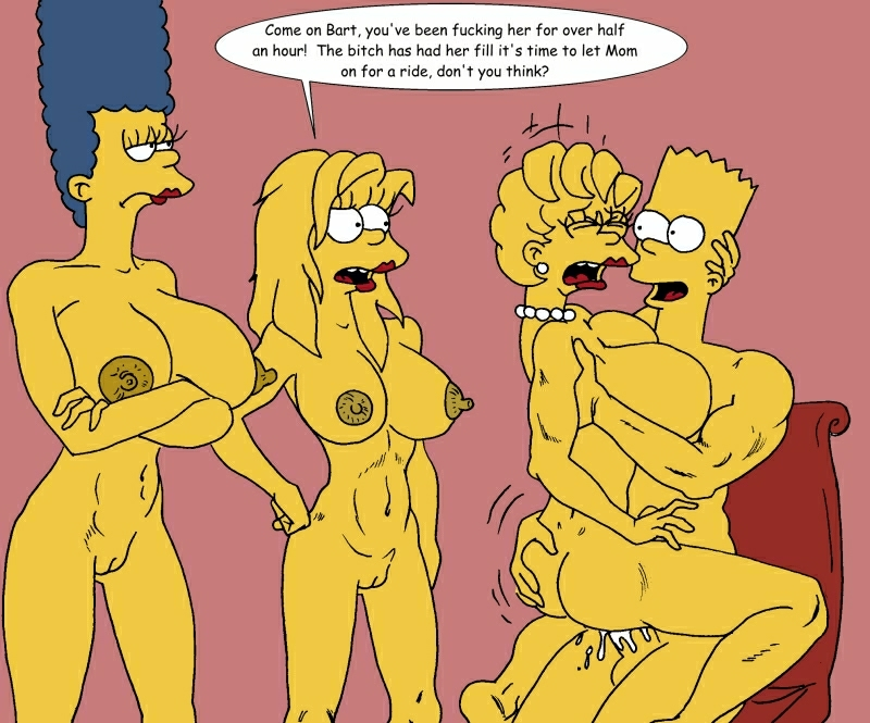 Maggie lisa simpson marge bart and