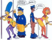 #pic74927: Abom – Chief Wiggum – Marge Simpson – Maude Flanders – The Simpsons