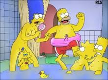 #pic32171: Bart Simpson – Homer Simpson – Lisa Simpson – Maggie Simpson – Marge Simpson – Restless Foe – The Simpsons