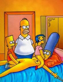 #pic25017: Bart Simpson – Homer Simpson – Marge Simpson – Milhouse Van Houten – The Simpsons