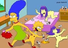#pic18918: Lisa Simpson – Sherri – Sherri & Terri – Terri – The Simpsons – great moaning