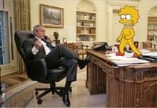 #pic237020: George W Bush – Lisa Simpson – The Simpsons
