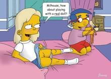 #pic142849: Greta Wolfcastle – Jimmy – Milhouse Van Houten – The Simpsons