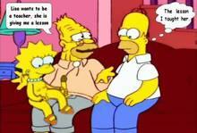#pic304810: Abraham Simpson – Homer Simpson – Lisa Simpson – The Simpsons – animated