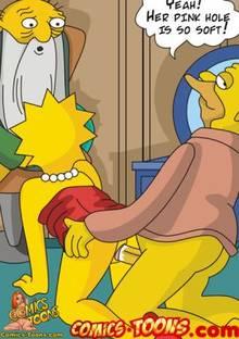 #pic314996: Abraham Simpson – Jasper Beardly – Lisa Simpson – The Simpsons