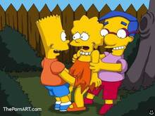 #pic850778: Bart Simpson – Lisa Simpson – Milhouse Van Houten – The Simpsons – animated
