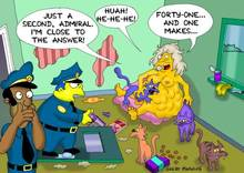 #pic368572: Chief Wiggum – Eleanor Abernathy – Lou – The Simpsons – featured #picgreat moaning