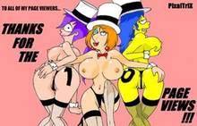 #pic354532: Family Guy – Futurama – Lois Griffin – Marge Simpson – PixalTrix – The Simpsons – Turanga Leela – crossover