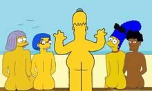 #pic1357083: Bernice Hibbert – HomerJySimpson – Homer Simpson – Marge Simpson – Sarah Wiggum – The Simpsons – luann vanhouten