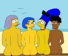 #pic1353888: Bernice Hibbert – HomerJySimpson – Marge Simpson – Sarah Wiggum – The Simpsons – luann vanhouten