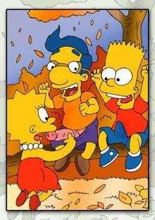 #pic351011: Bart Simpson – Lisa Simpson – Milhouse Van Houten – The Simpsons