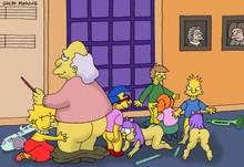 #pic263563: Lisa Simpson – Milhouse Van Houten – Mr. Largo – Sherri – Terri – The Simpsons – great moaning