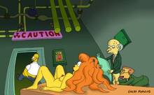 #pic263561: Homer Simpson – Mindy Simmons – Montgomery Burns – The Simpsons – Waylon Smithers – great moaning