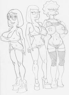 #pic262071: American Dad – Family Guy – Hayley Smith – Lisa Simpson – Meg Griffin – The Fear – The Simpsons – crossover