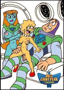 #pic260131: Buzz Lightyear – Buzz Lightyear of Star Command – Lisa Simpson – Mira Nova – The Simpsons – crossover – nev
