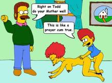 #pic789596: Maude Flanders – Ned Flanders – The Simpsons – Todd Flanders – animated