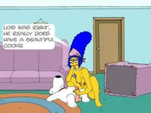 #pic789593: Brian Griffin – Family Guy – Marge Simpson – The Simpsons – crossover