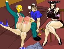 #pic719010: Chun-Li – Juri Han – Montgomery Burns – Street Fighter – The Simpsons – crossover