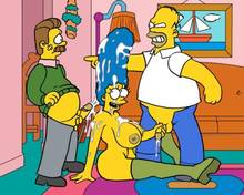 #pic715332: Homer Simpson – Marge Simpson – Ned Flanders – The Simpsons