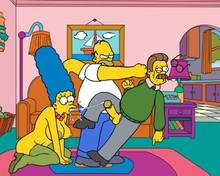 #pic715327: Homer Simpson – Marge Simpson – Ned Flanders – The Simpsons