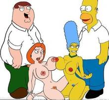 #pic1132513: Family Guy – Homer Simpson – Lois Griffin – Marge Simpson – Peter Griffin – The Simpsons – crossover