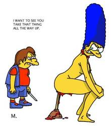 #pic90532: Marge Simpson – Nelson Muntz – The Simpsons