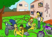 #pic90525: Bart Simpson – Homer Simpson – Lisa Simpson – Marge Simpson – Meathook – Ramrod – Rod Flanders – The Simpsons – Todd Flanders – great moaning