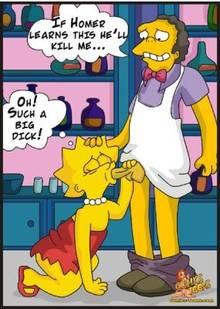 #pic90506: Lisa Simpson – Moe Szyslak – The Simpsons