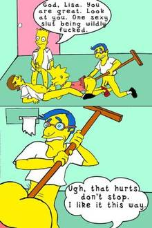 #pic97965: Bart Simpson – Lisa Simpson – Milhouse Van Houten – Nelson Muntz – The Simpsons