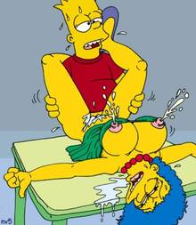 #pic97800: Bart Simpson – Marge Simpson – The Simpsons – nev