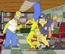 #pic90542: Bart Simpson – Chief Wiggum – Homer Simpson – Marge Simpson – The Simpsons