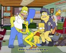 #pic90544: Bart Simpson – Chief Wiggum – Homer Simpson – Marge Simpson – The Simpsons