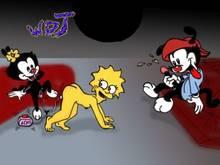 #pic157824: Animaniacs – Dot Warner – Lisa Simpson – The Simpsons – WDJ – Wakko Warner – crossover