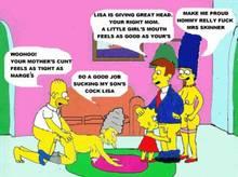 #pic308072: Agnes Skinner – Homer Simpson – Lisa Simpson – Marge Simpson – Seymour Skinner – The Simpsons – animated