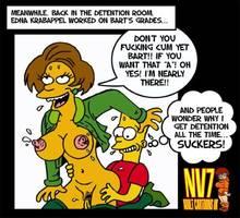 #pic164447: Bart Simpson – Edna Krabappel – The Simpsons – nev